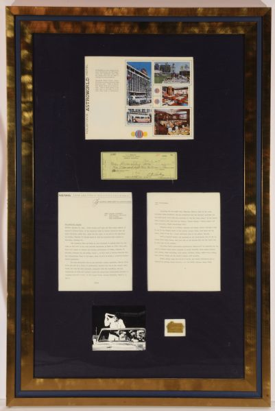 1970 Houston Astrodome Livestock Show and Rodeo Collection Including Elvis Presley Signed Check
