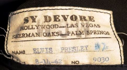 Coat Label - Elvis' World's Fair Suit