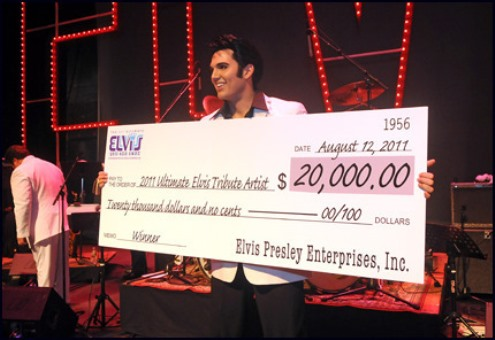 Cody Slaughter Winning 2011 Ultimate Elvis Competition