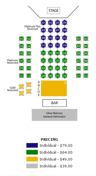 Daisy Seating and Ticket Prices for Elvis 56