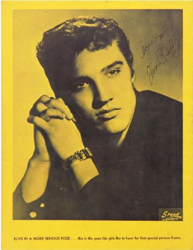 Early 1956 Elvis Presley Signed Mr. Rhythm Souvenir Program - Signature