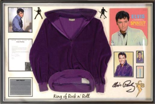 Elvis' Purple Velour Shirt from the 1966 RCA Pocket Calendar