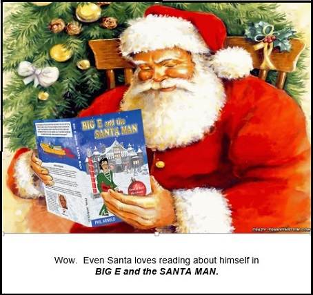 Santa Reading Big E and the Santa Man with lines