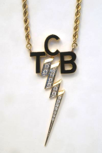 TCB Diamond and Gold Necklace Elvis Gifted To Sammy Davis Jr