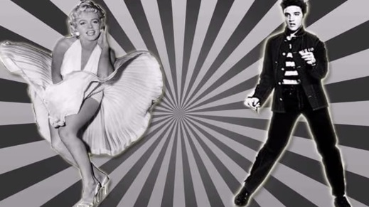 Elvis and Marilyn Air Grate -- Jailhouse Rock