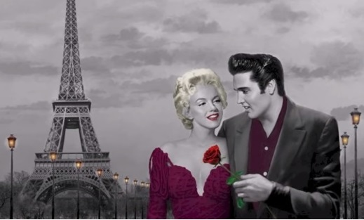 Elvis and Marilyn Eiffle Tower