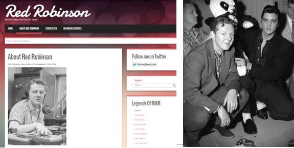 Red Robinson Website and Pic with Elvis