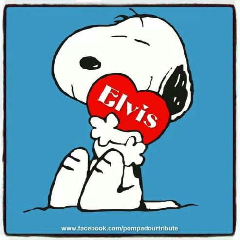 Snoopy with Elvis heart