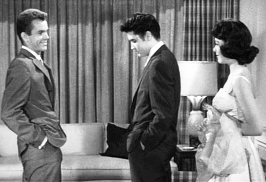 Dean Jones, Elvis and Judy Tyler in Jailhouse Rock