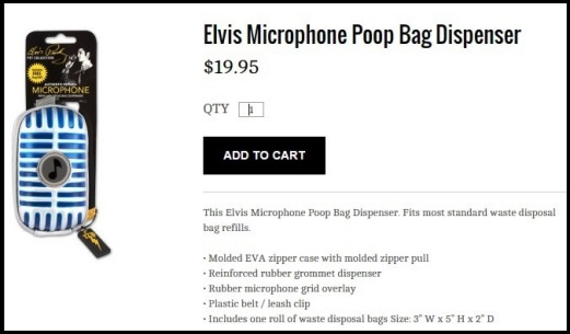 Elvis Dog Poop Bag Dispenser
