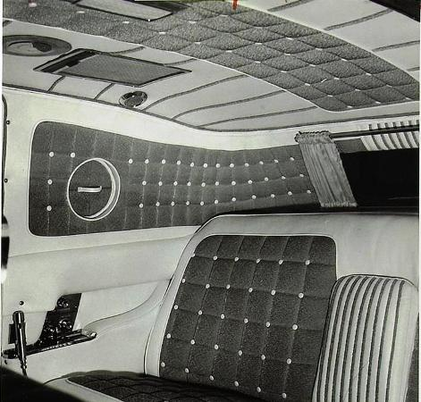 Interior of Elvis' Gold Cadillac Designed by George Barris