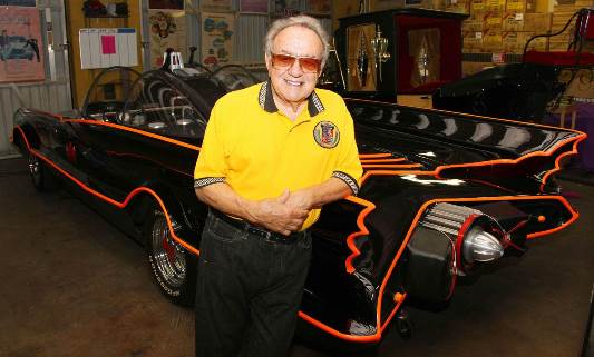 SeptembSept 2010 George Barris poses next to a 1966 Batmobile