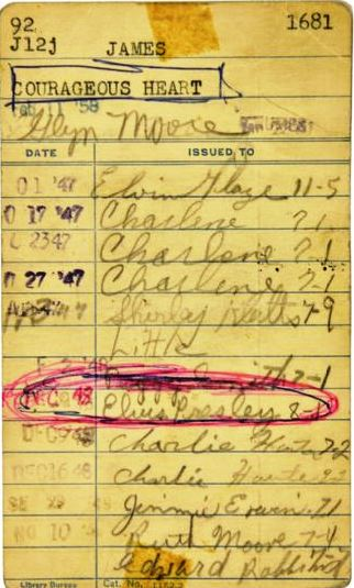 1948 Elvis Presley Signed Humes High School Library Card
