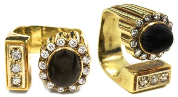 "Elvis' Gold, Diamond and Black Sapphire Ring – The ""Number 10"" Ring"