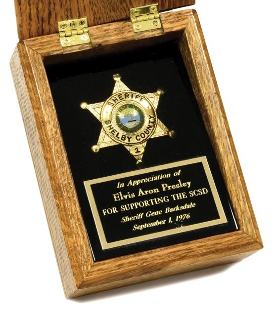 Elvis' Shelby County Sheriff's Badge - Close Up