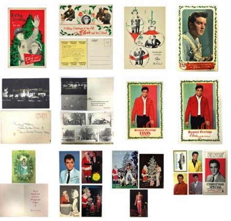 Lot 22 Collection of Elvis Christmas Cards