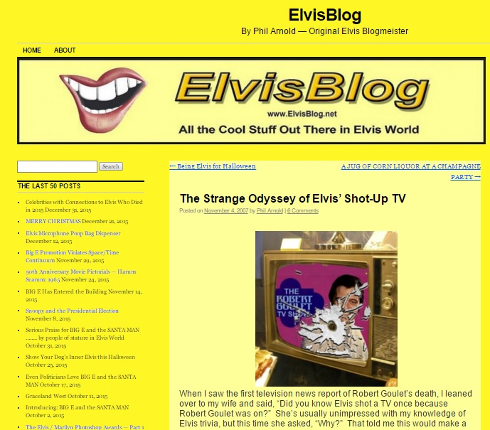 Strange Oddyssey of Elvis' Shot Up TV