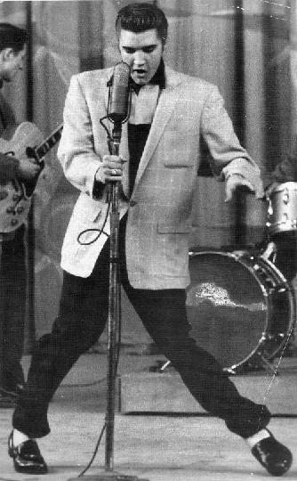 Elvis Doing Hound Dog on Milton Berle Show