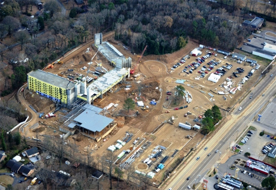 Guesthouse at Graceland under construction