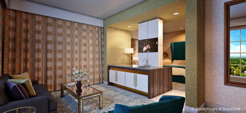 TCB Suite and Living Room Suites at Guest House at Graceland