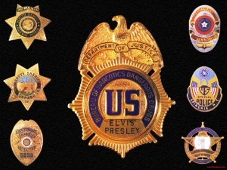 Elvis' Badge from Department of Justic
