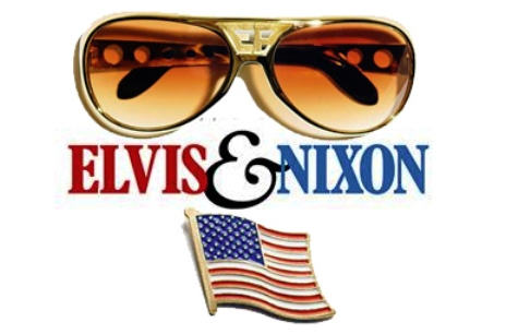 Elvis and Nixon Shades and Flag