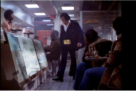 Elvis in Donut Shop
