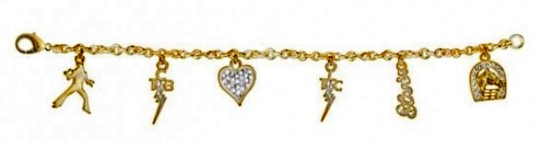 Lowell Hays Gold Plated Elvis Charm Bracelet