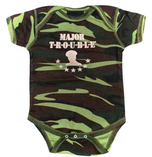 Major Trouble Camoflauge Infant Bodysuit