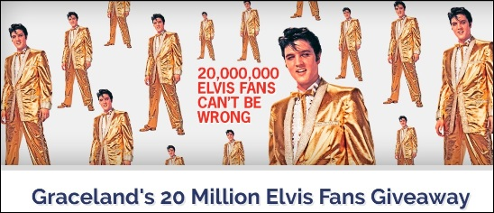 Graceland 20 Million Fan Giveaway