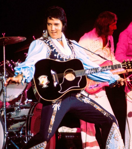 Elvis Playing Gibson Custom Guitar Dove