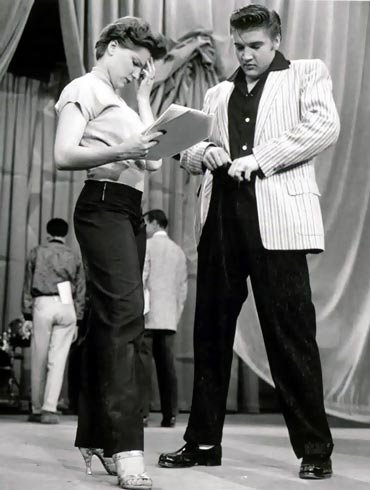 Elvis during Rehearsal for a Skit on the Milton Berle Show