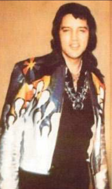 Elvis Wearing Painted Leather Coat