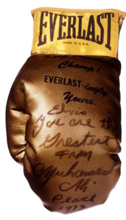 Glove Muhammad Ali gave to Elvis