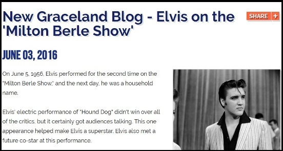 Graceland Blog - Elvis on the Milton Berle Show
