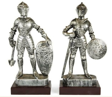 Medieval Knight Figurines from Elvis Presley's Graceland