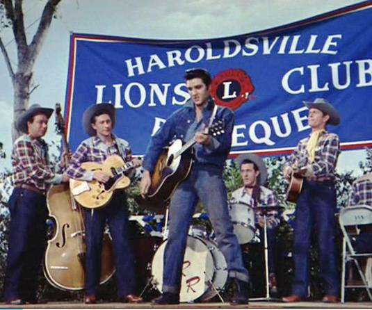 Bill, Scotty, Elvis, and DJ Playing Lets Have A Party