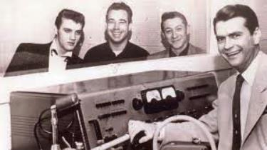 Elvis, Bill, Scotty, and Sam Phillips