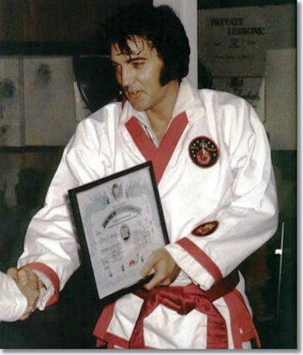 Elvis Presley with 7th Degree Certificate