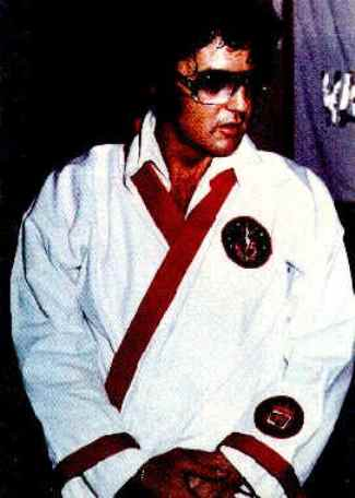Elvis and Karate Gi withTwo Patches