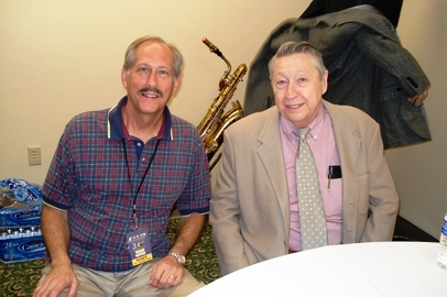 Phil Arnold and Scotty Moore Backstage 2007