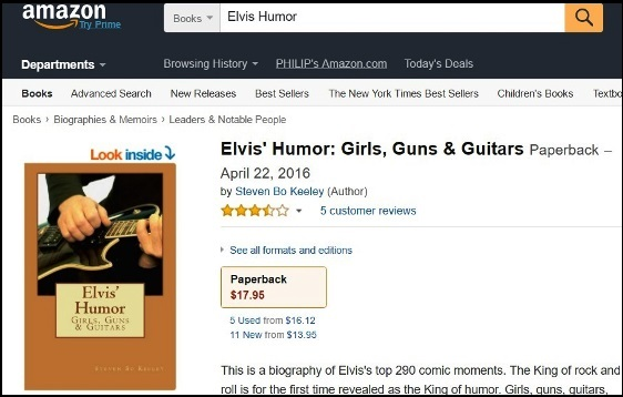 Elvis Humor on Amazon