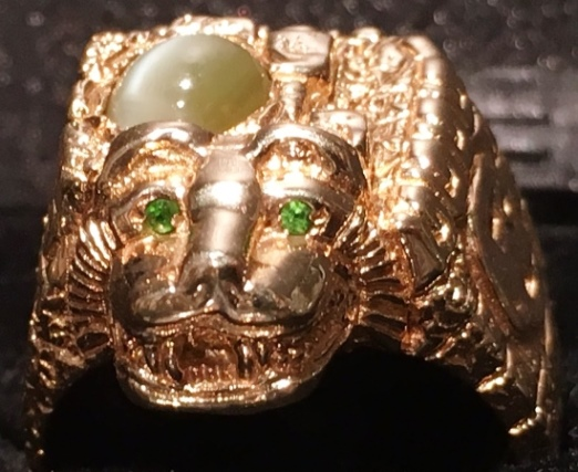 Elvis Presley's Aztec Ring -- Front View