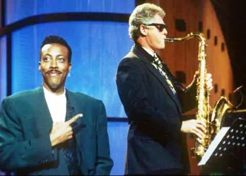 Clinton Playing Heartbreak Hotel on Sax