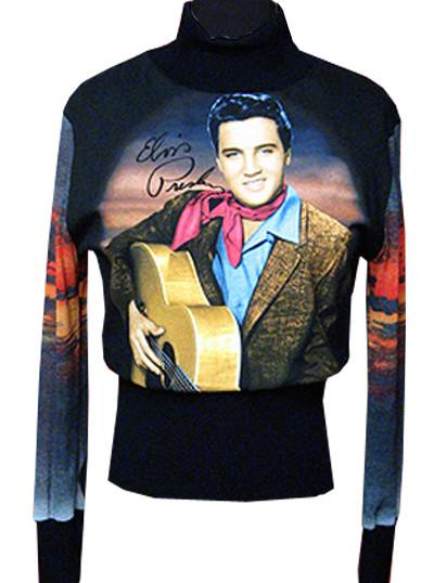 Elvis Fashion - Cowboy Prairie Sunset Turtleneck Sweater