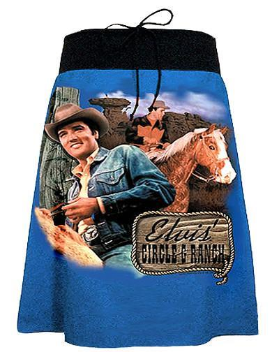 Elvis Fashion - Cowboy Ranch A-Line Skirt.