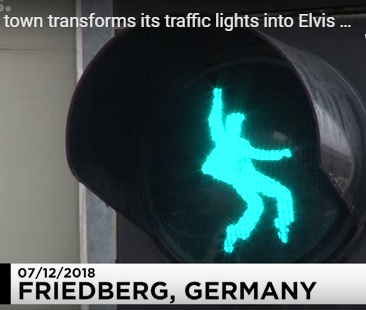Elvis Traffic Light - in Germany - Green