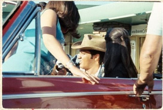 Elvis and Girls in Car in Stay Away Joe