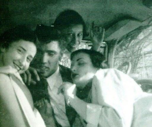 Elvis in a Car with Three Girls