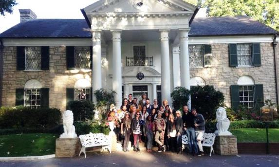 24 People Outside Graceland